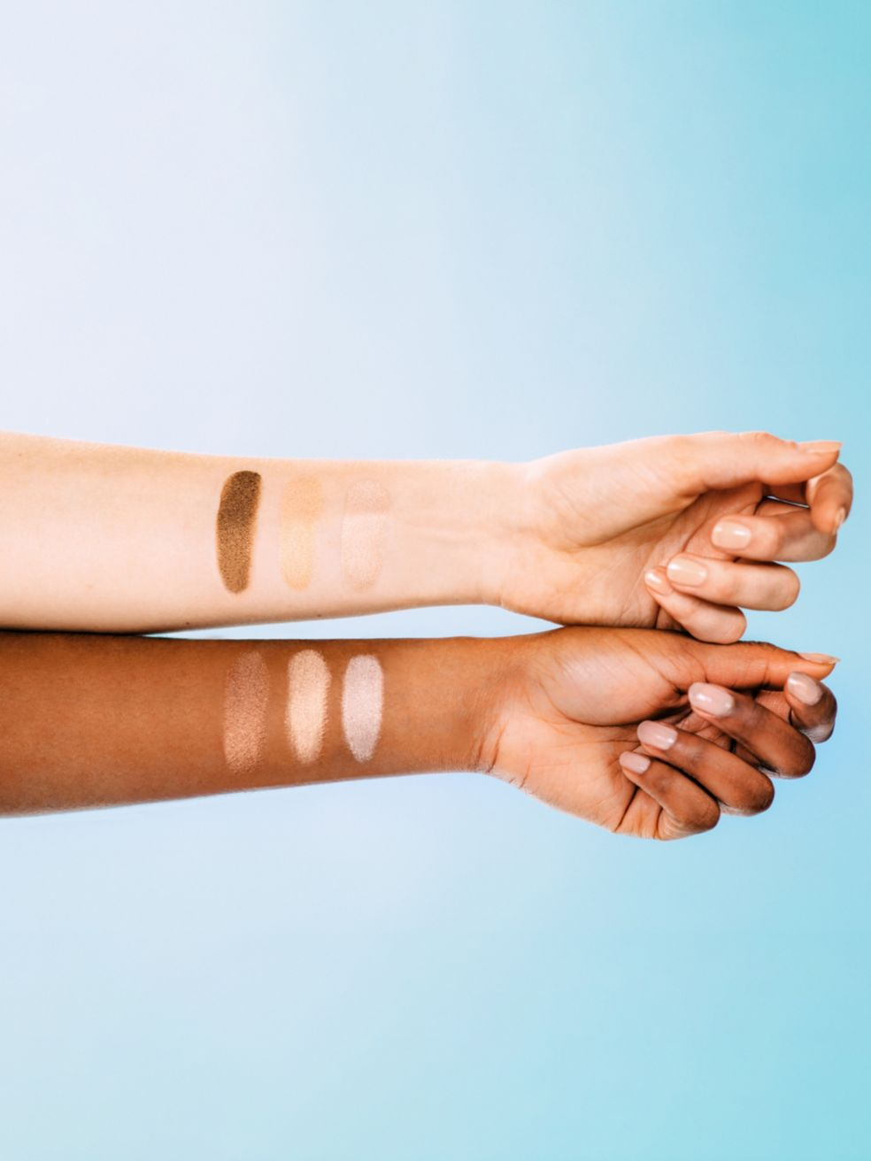 Supergoop SPF eye shadow on skin tones