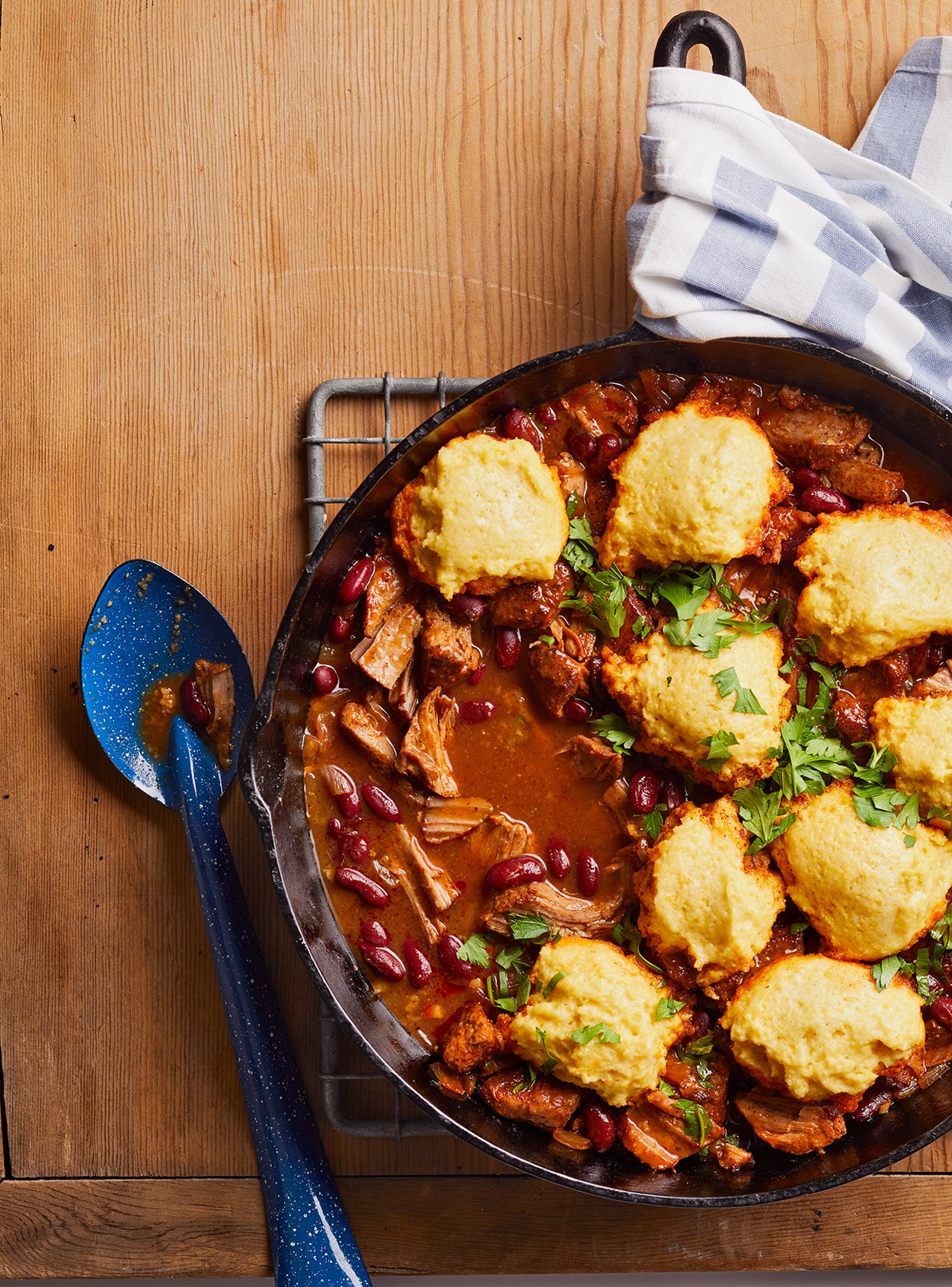 Pulled Pork Skillet Chili