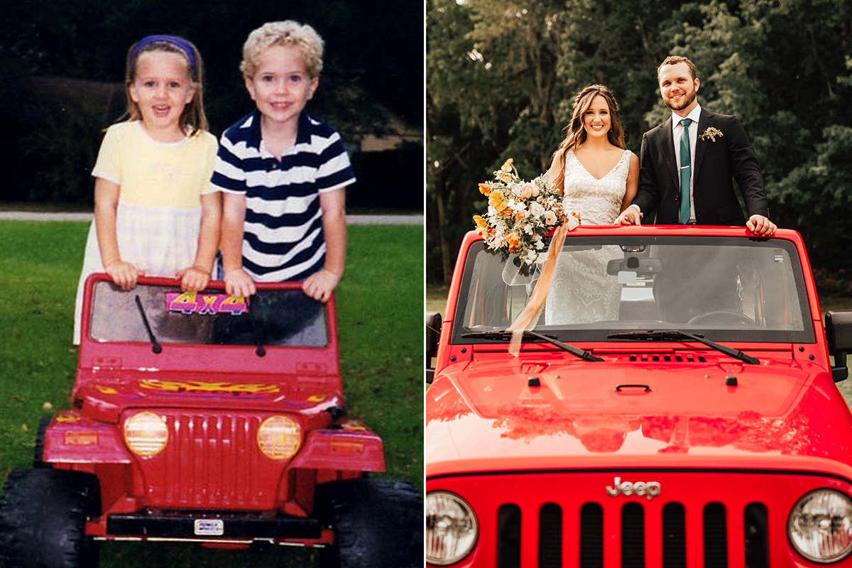 Preschool sweethearts who reconnected after 12 yrs and got married old