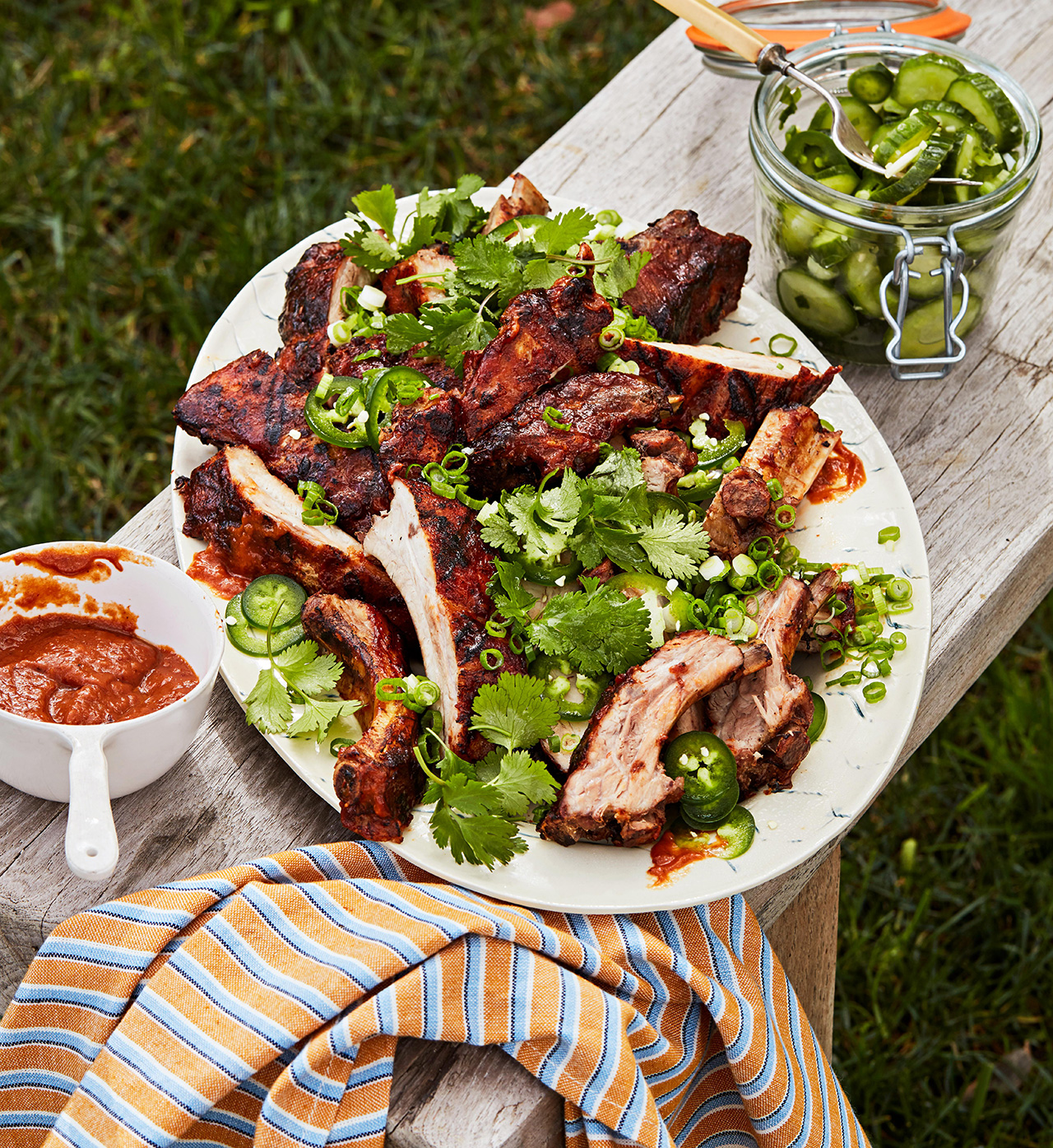 Baby Back Ribs and Quick Pickles