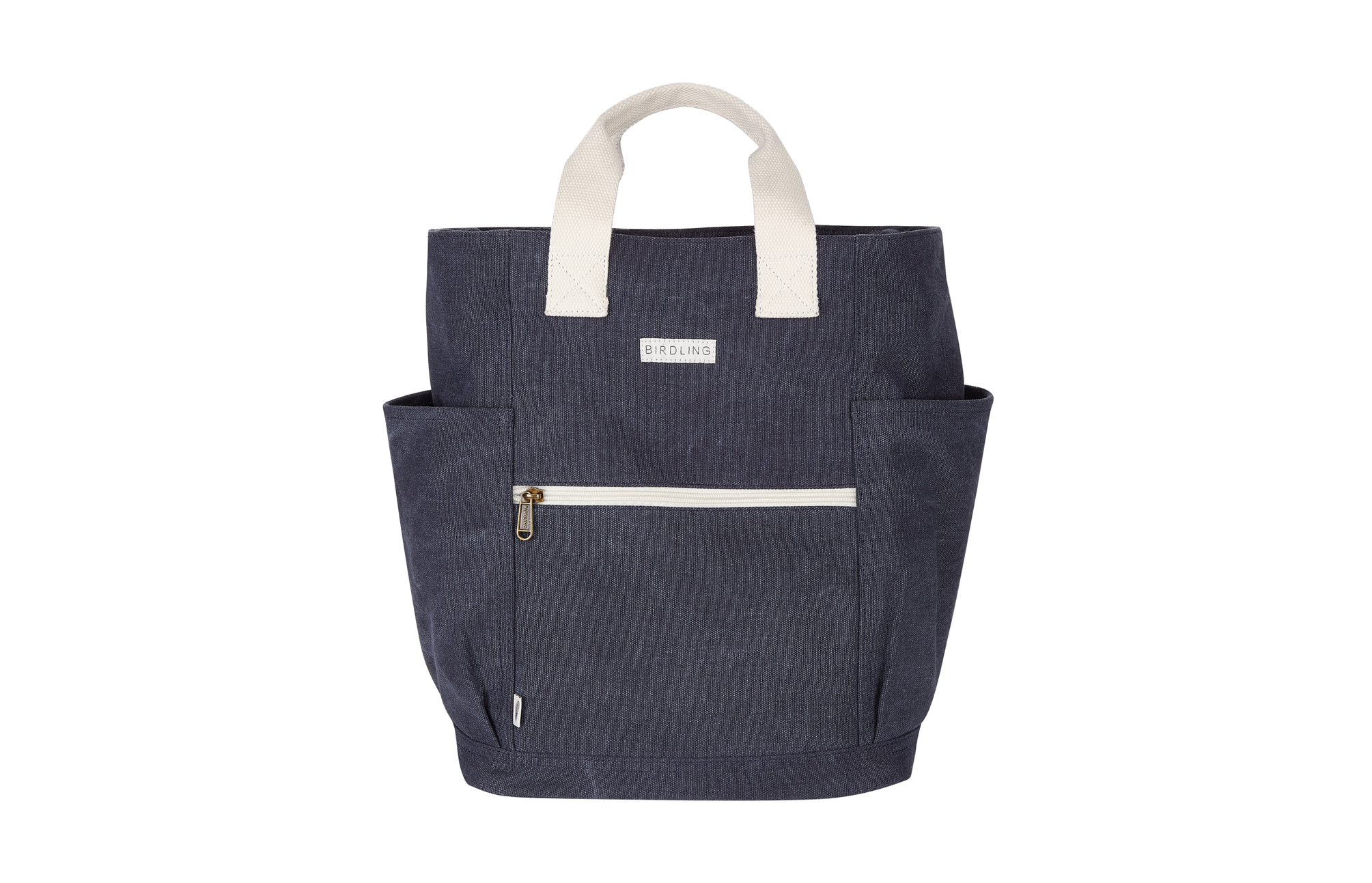 Blue and white Birdling Backpacker bag