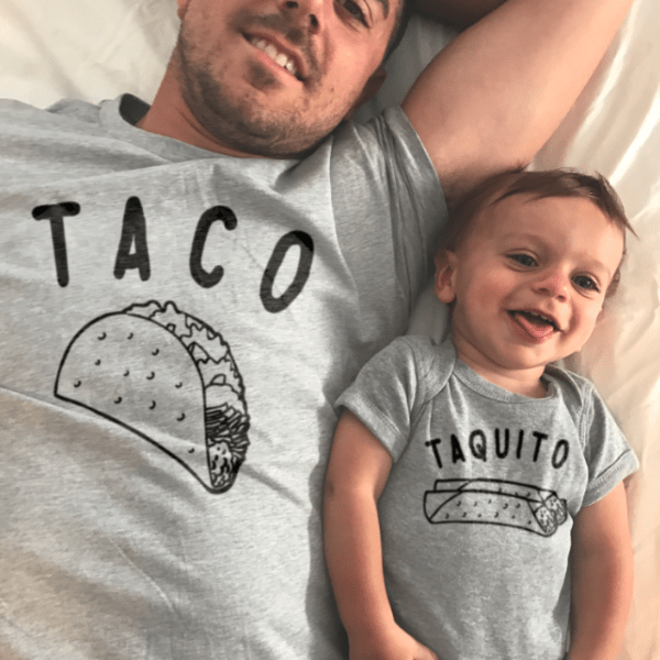 Taco Taquito matching clothing set
