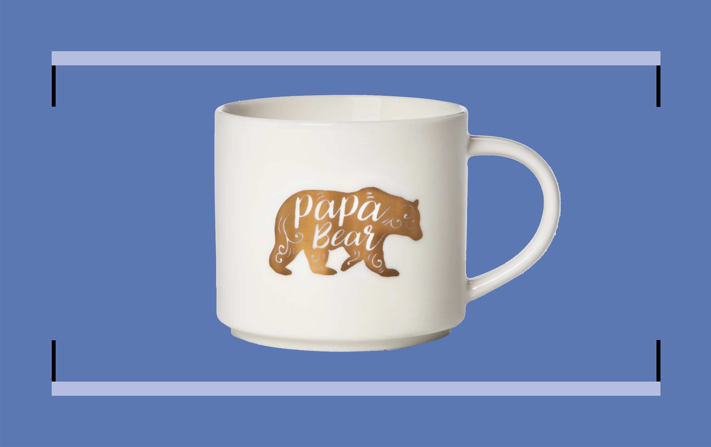 White mug with an image of a bear and the words 'papa bear'
