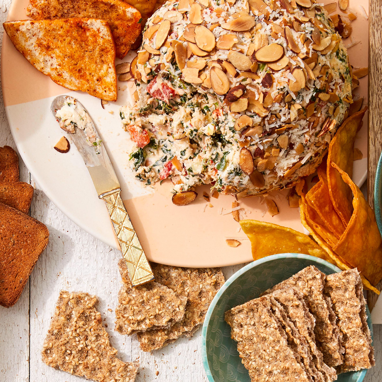 Spinach-Artichoke Cheese Ball