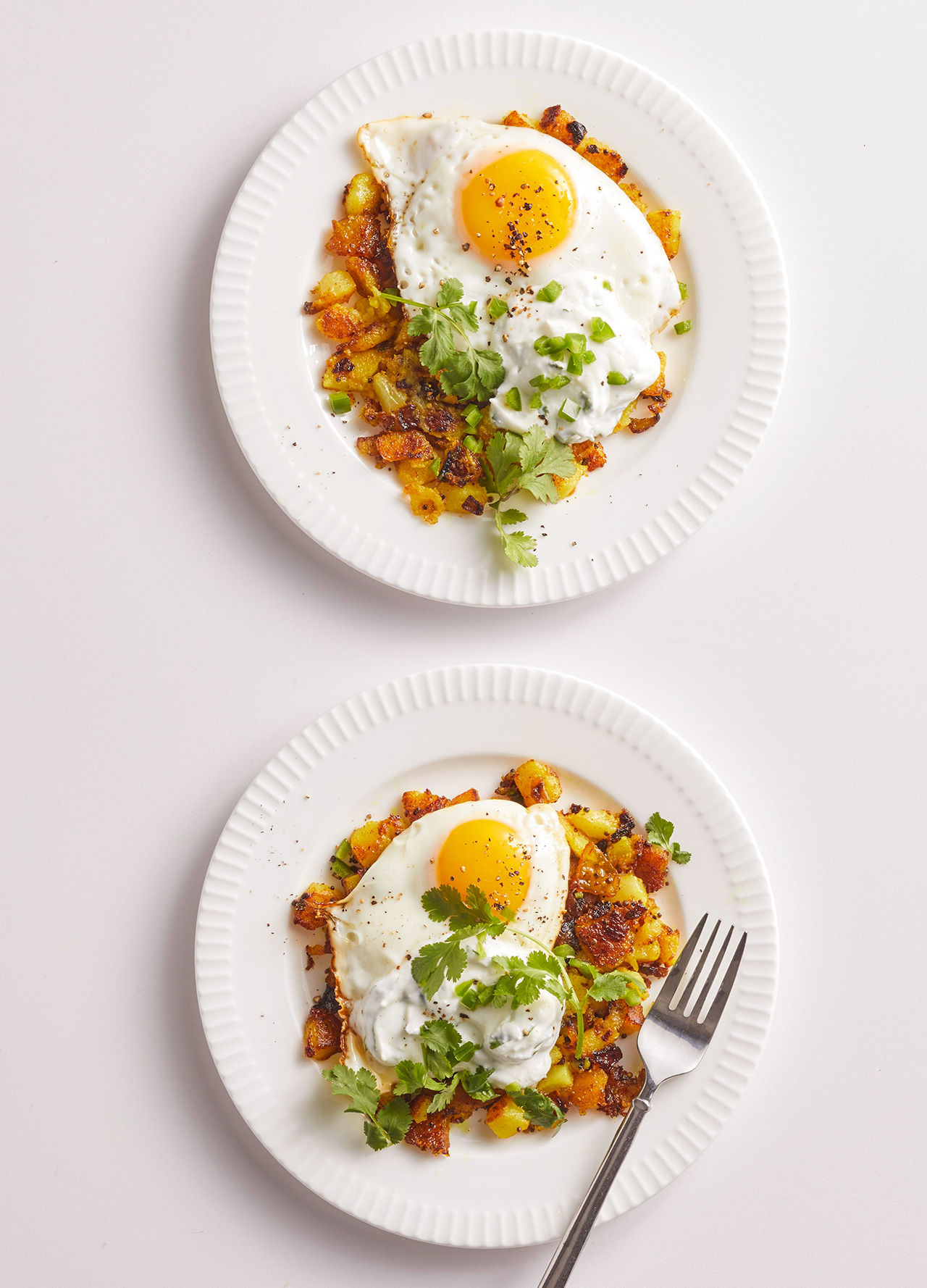Turmeric and Chile Hash Browns