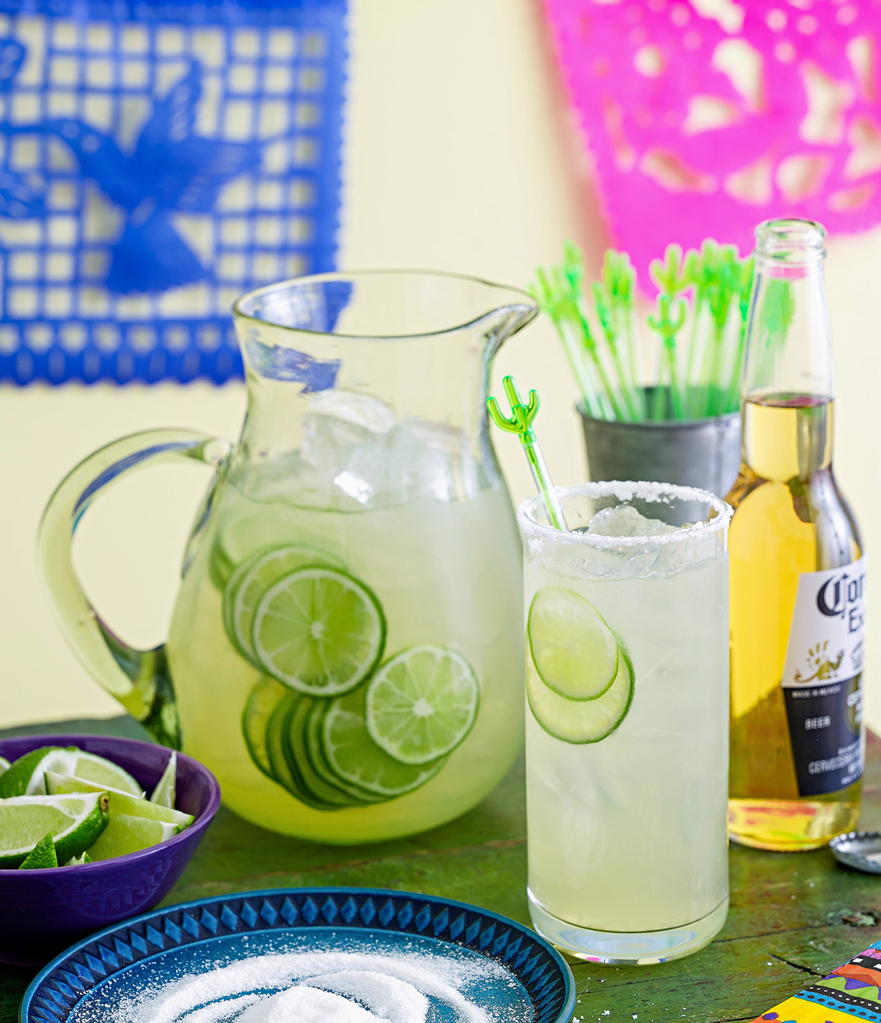 party beverage station with limes