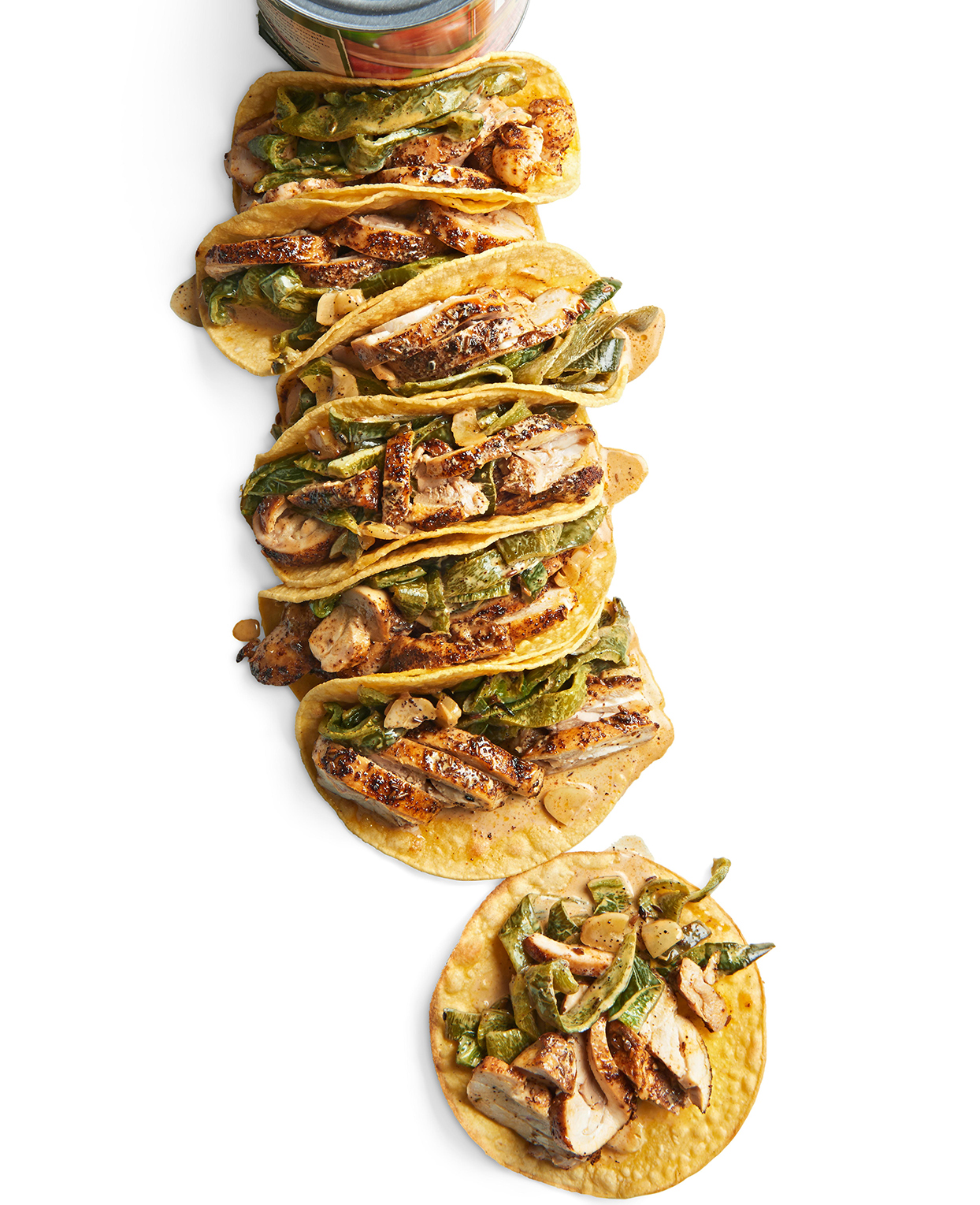 Spice-Rubbed Chicken and Poblano Tacos