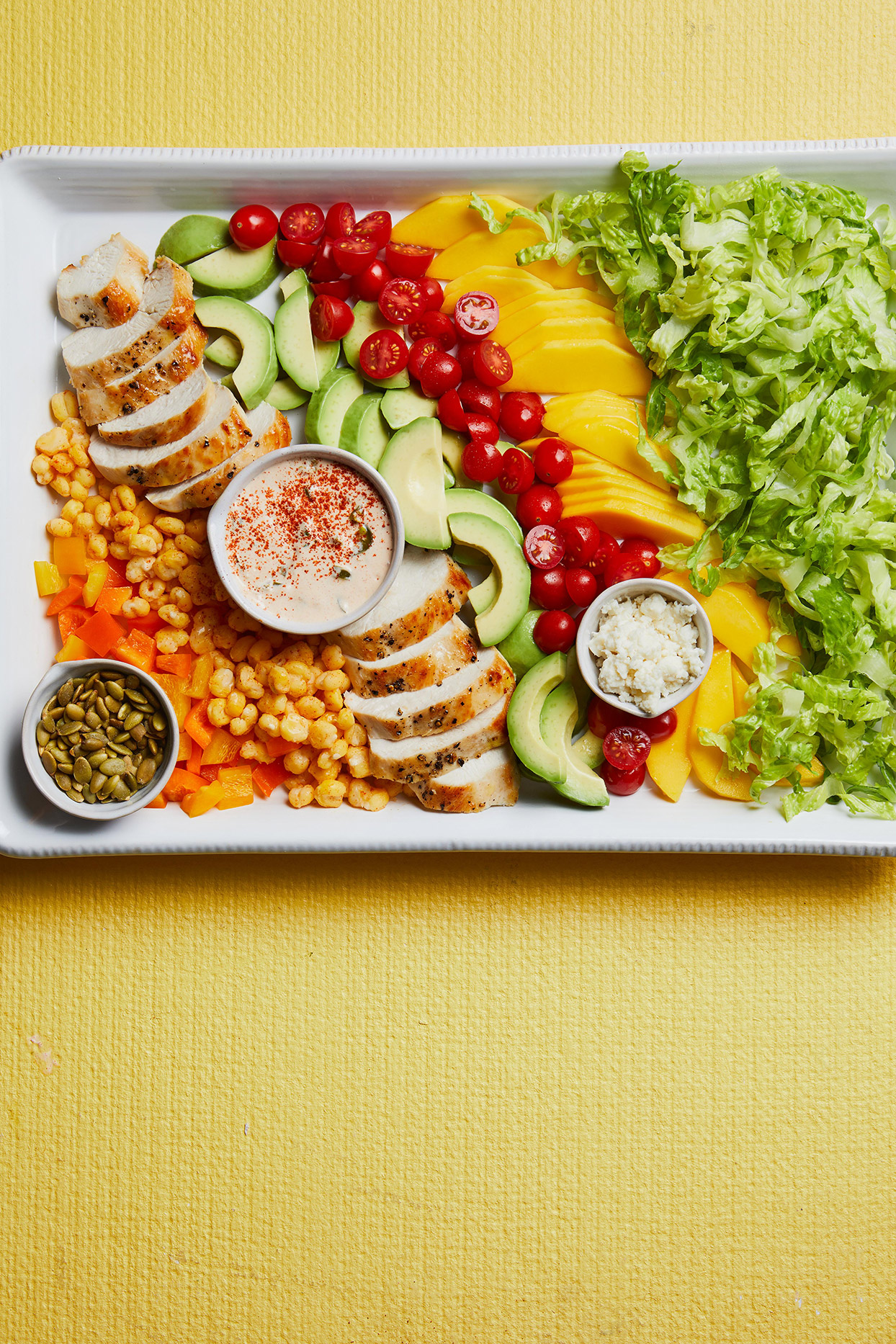 Mexican Chopped Chicken Salad with Jalapeno Dressing
