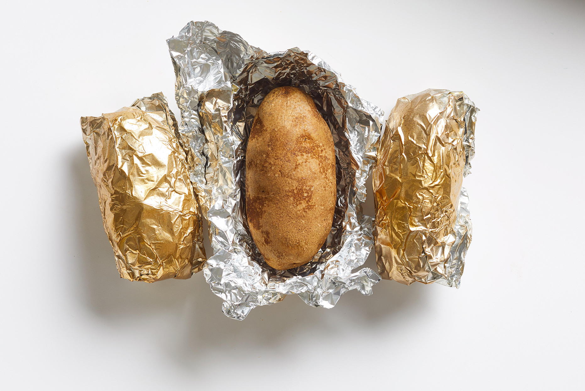 Grilled Potato in tin foil