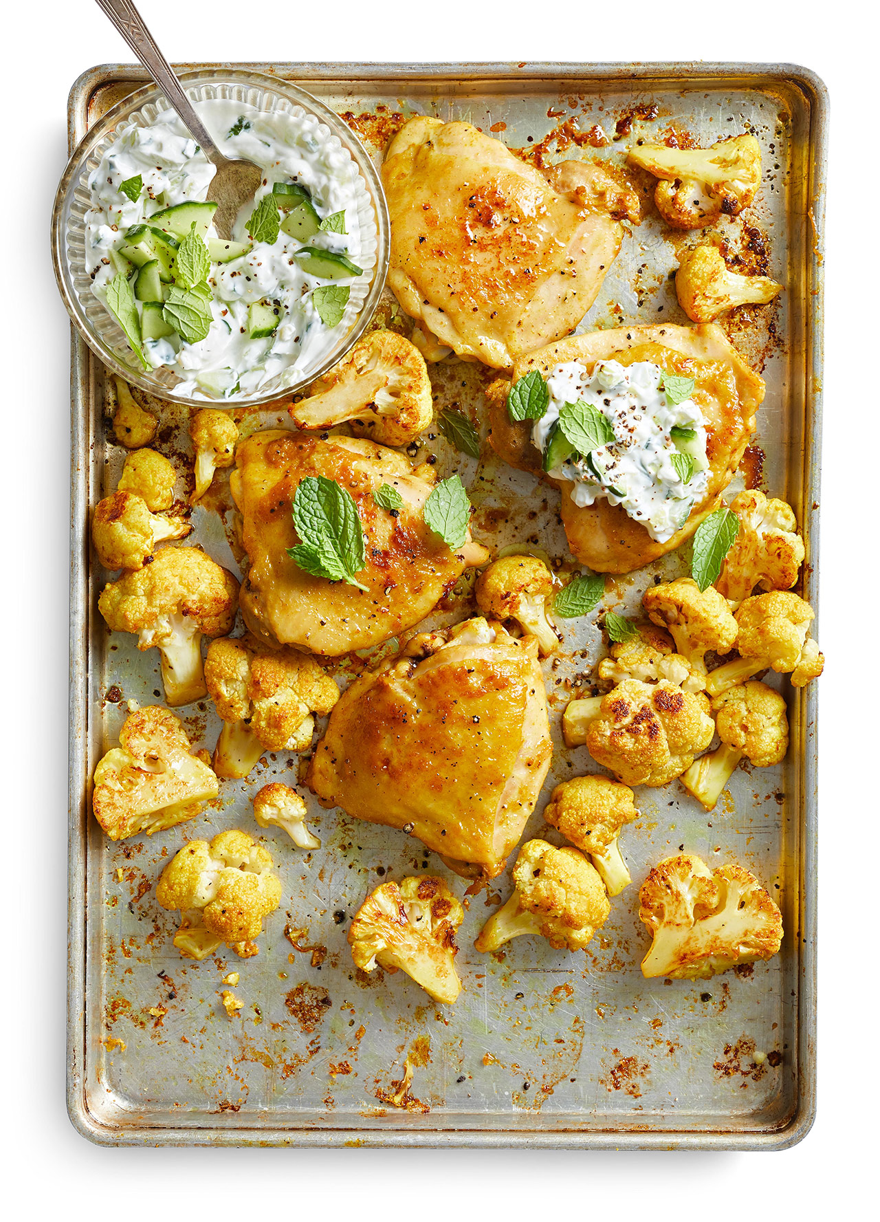 Roasted Curry Chicken and Cauliflower