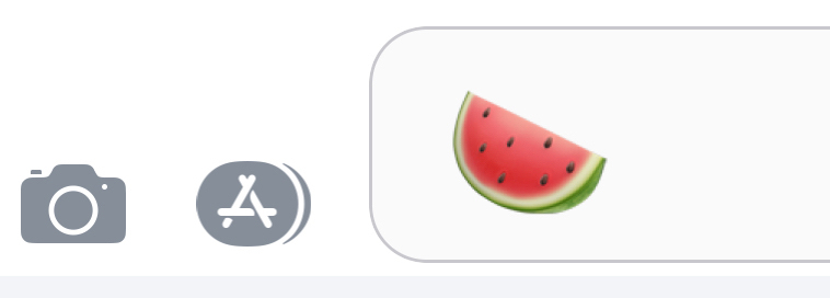 watermelon emoji in phone text message box