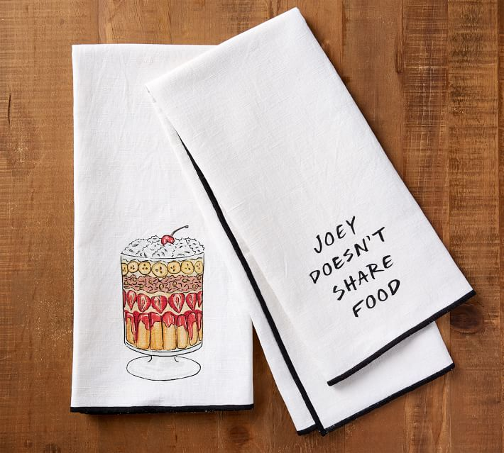 two tea towels, friends tv show themed