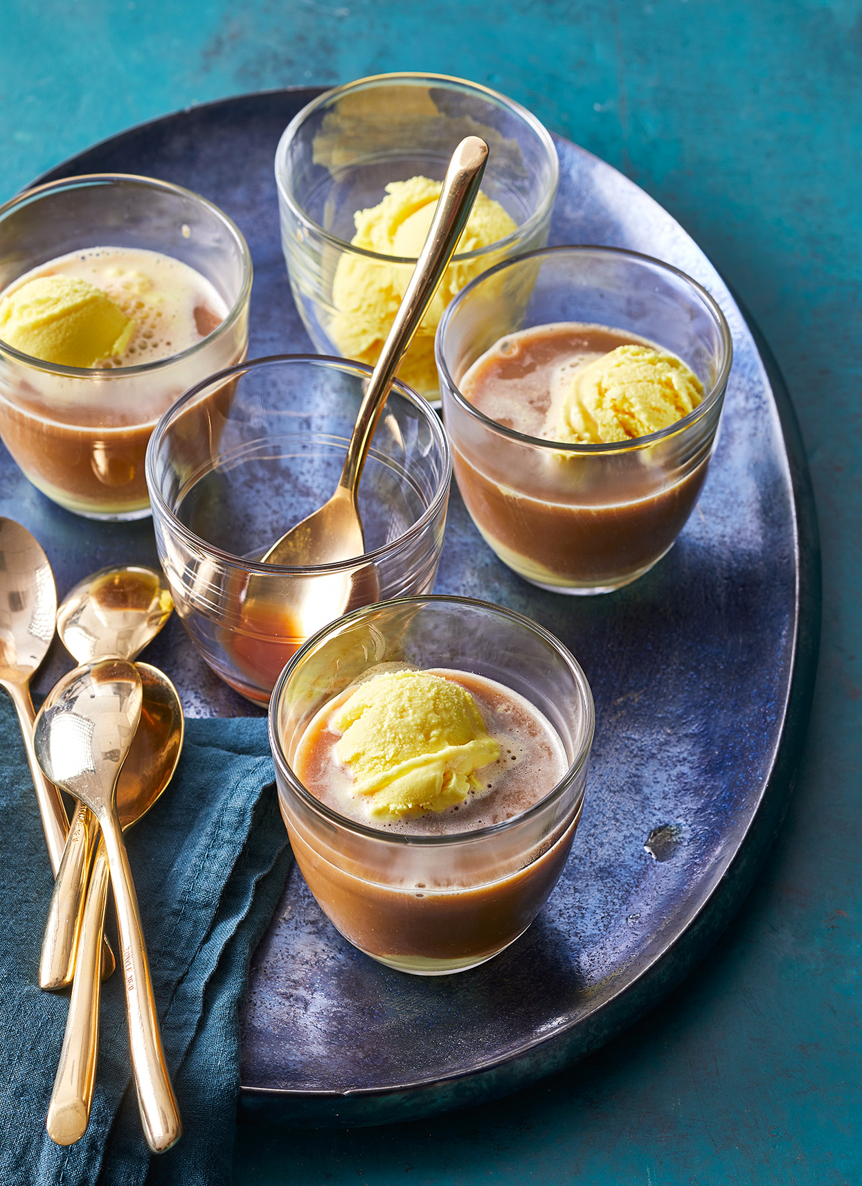 turmeric ginger and honey affogato
