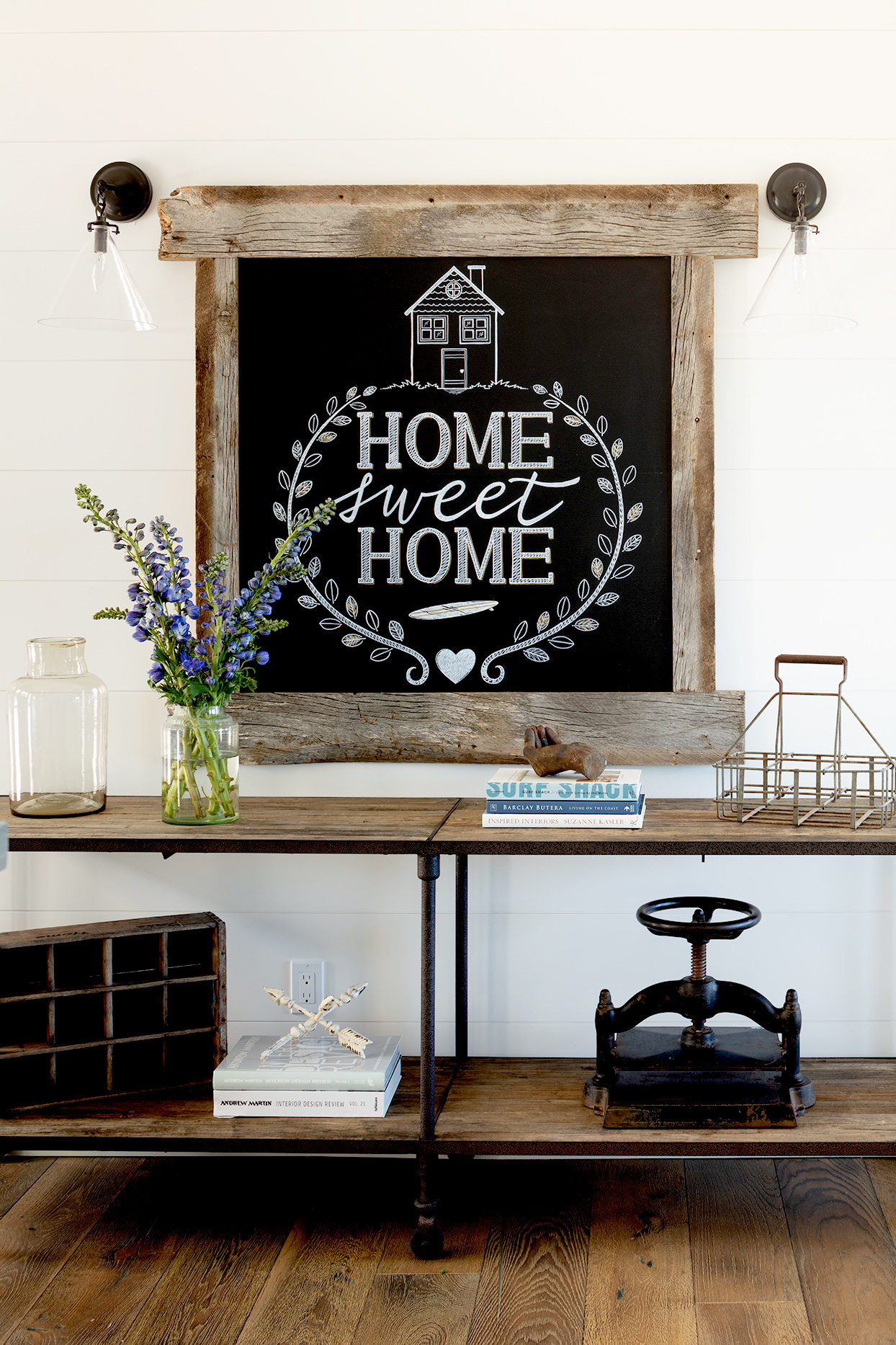 Home Sweet Home chalkboard sign