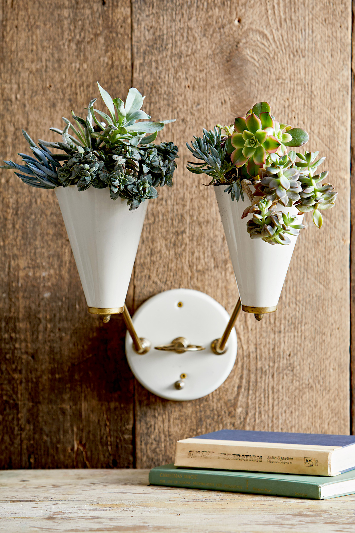 Light Fixture Succulent Planter