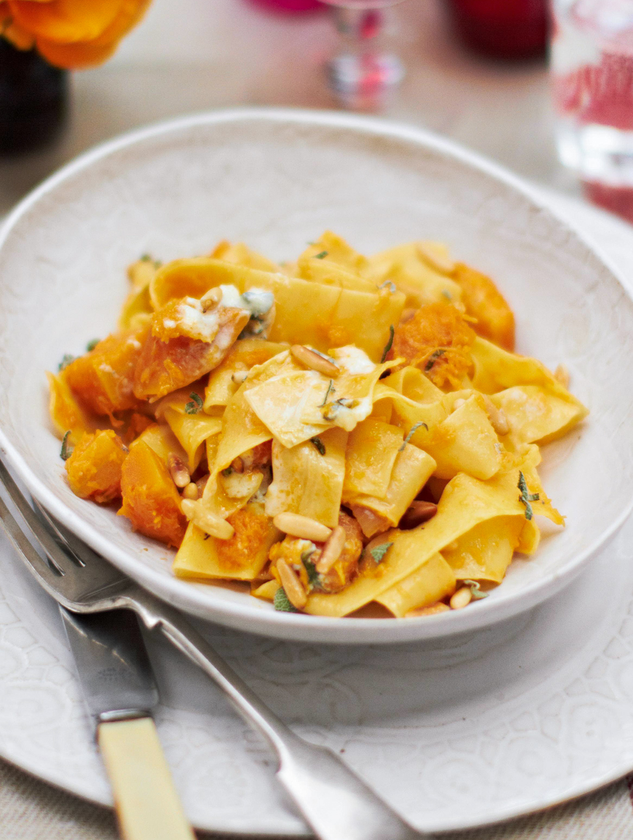 Pappardelle with Butternut Squash and Blue Cheese