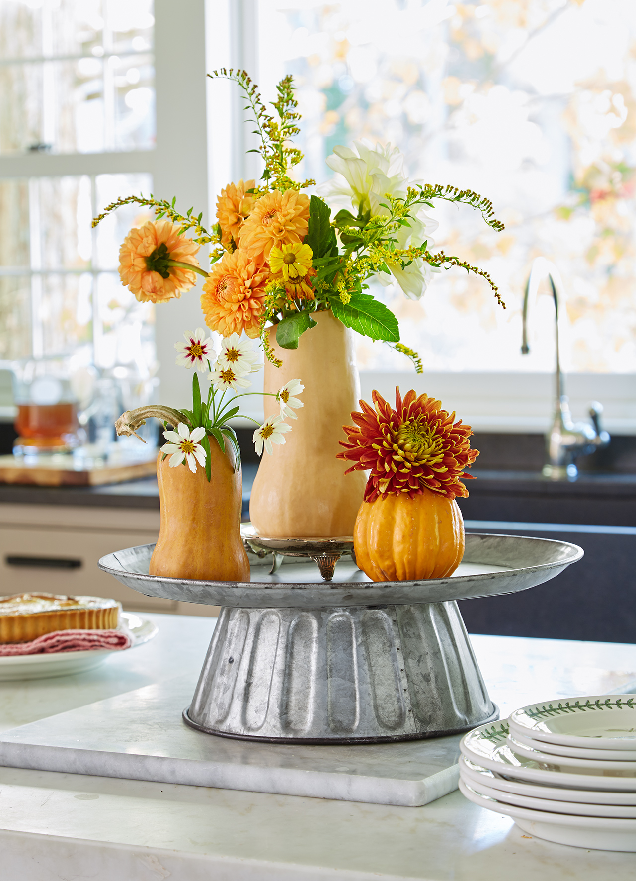 fall floral squash arrangements