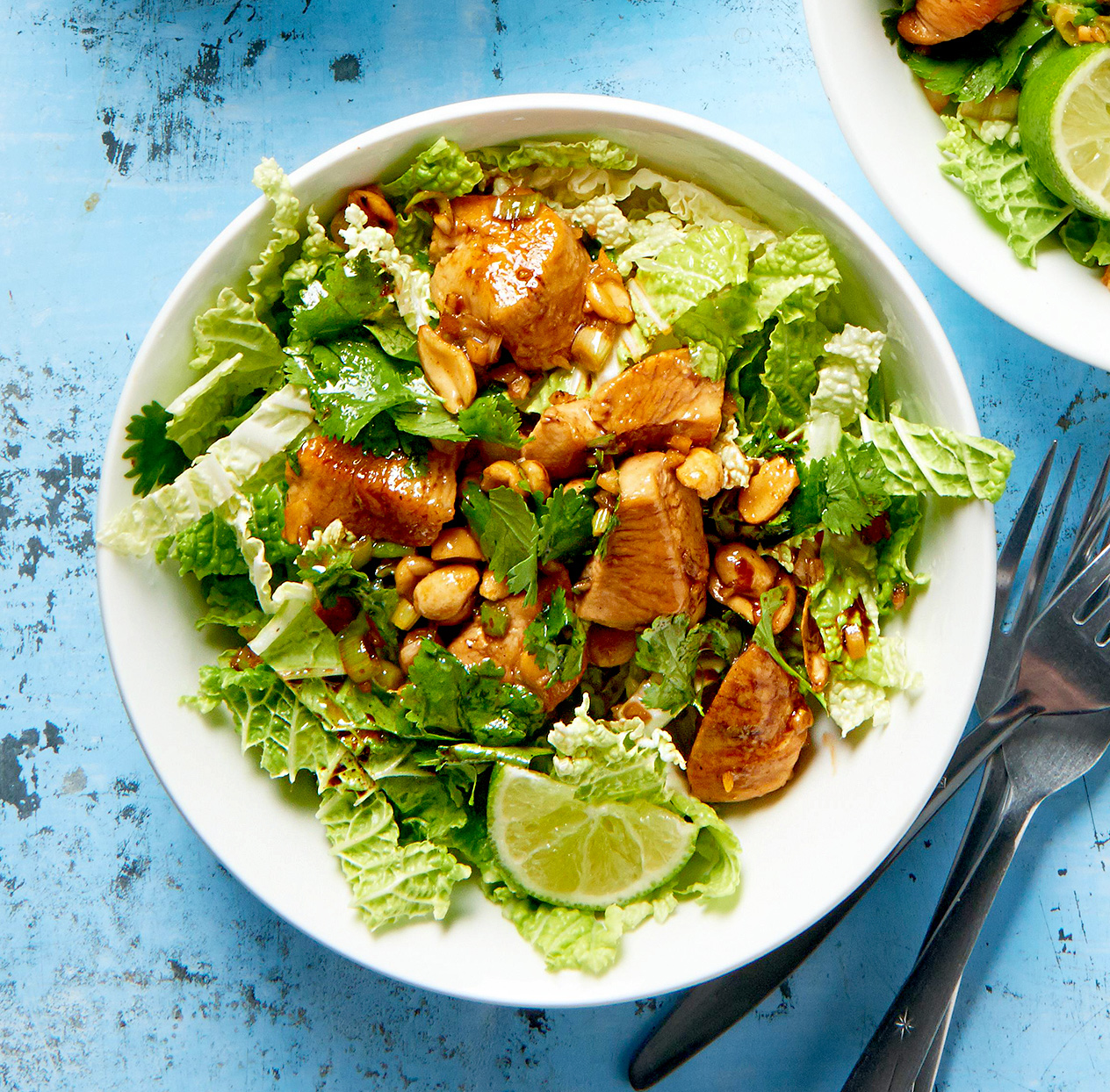 Cilantro-Ginger Chicken with Peanuts