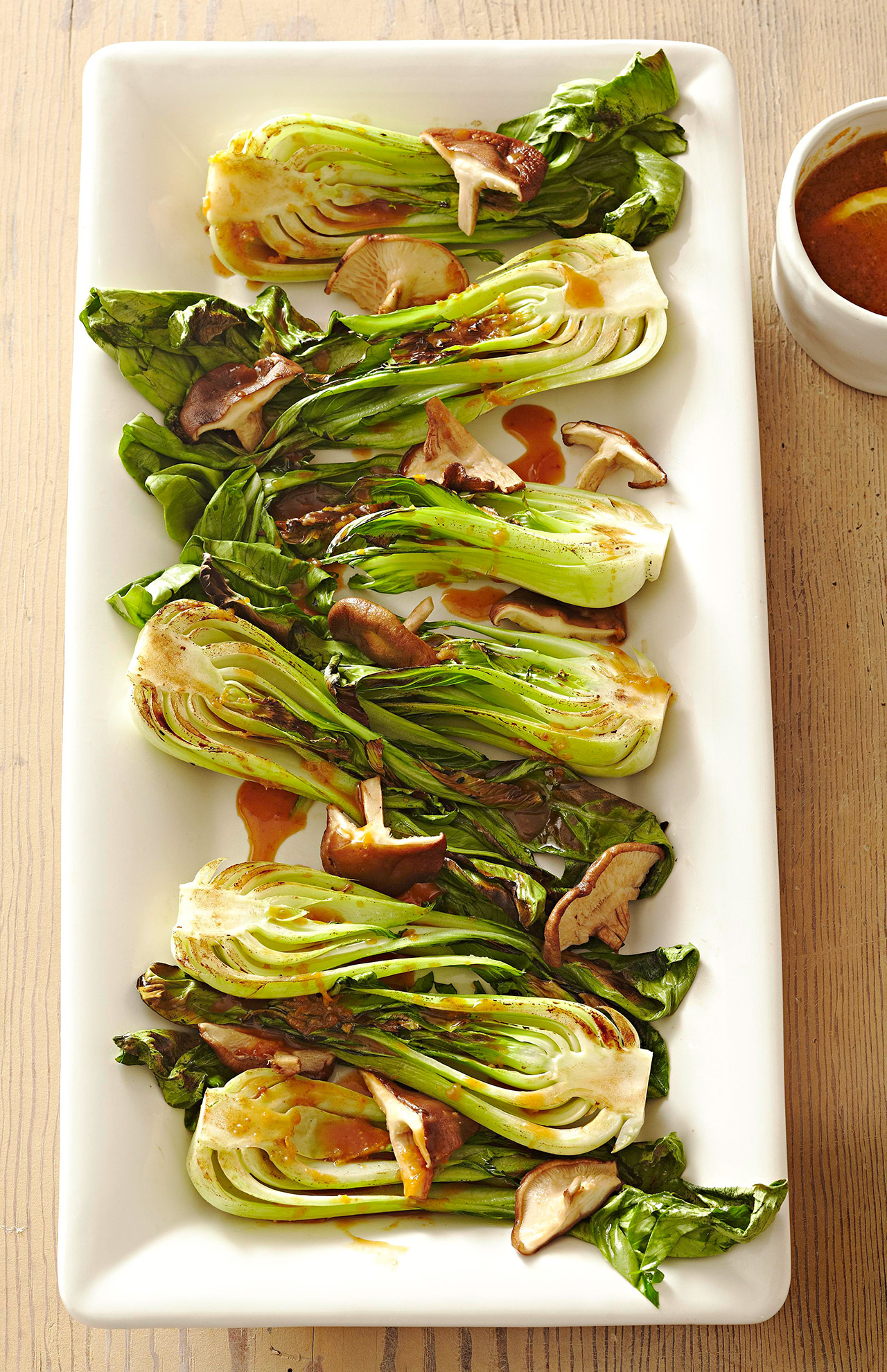 Broiled Bok Choy with Miso Sauce