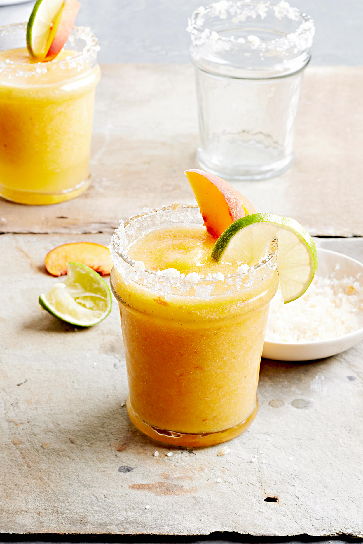 Ginger-Peach Margaritas