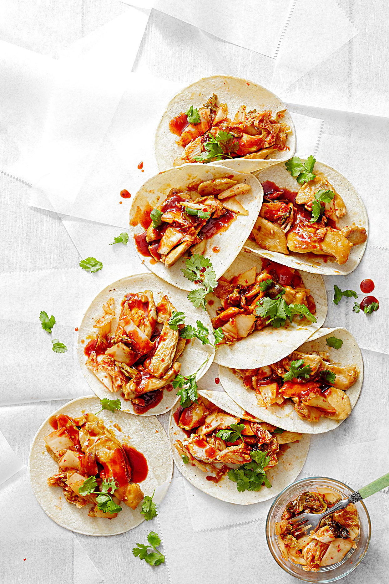 Korean Chicken Tacos