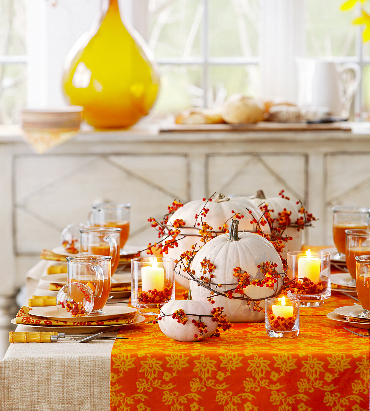 Bittersweet Fall Table Decor