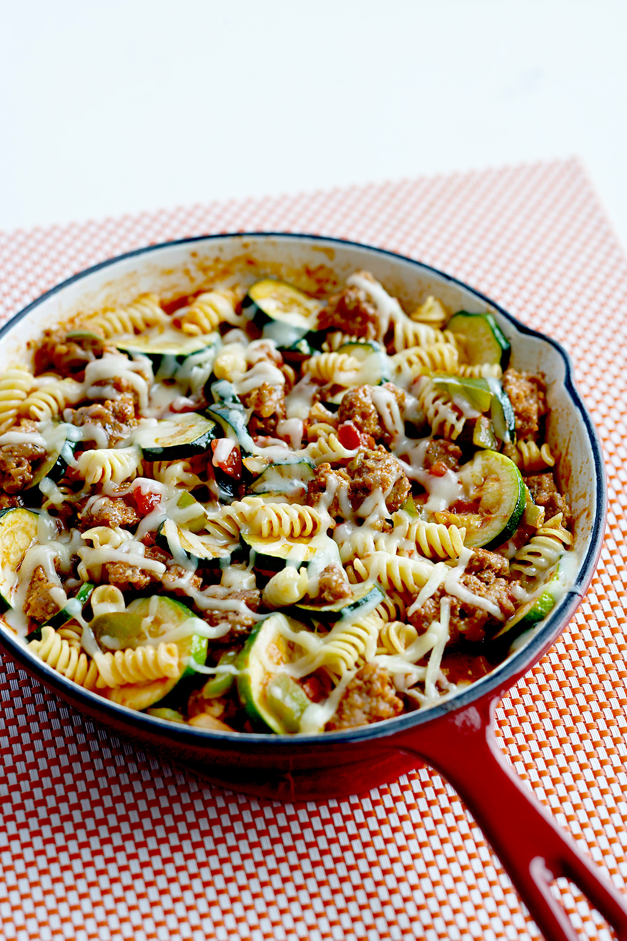Skillet Rotini with Zucchini and Sausage