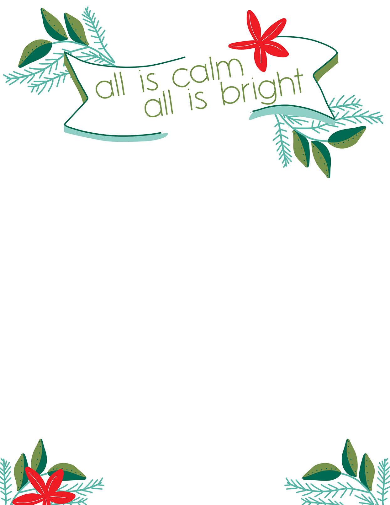 21 Free Christmas Letter Templates  Better Homes & Gardens Within Christmas Border Word Template