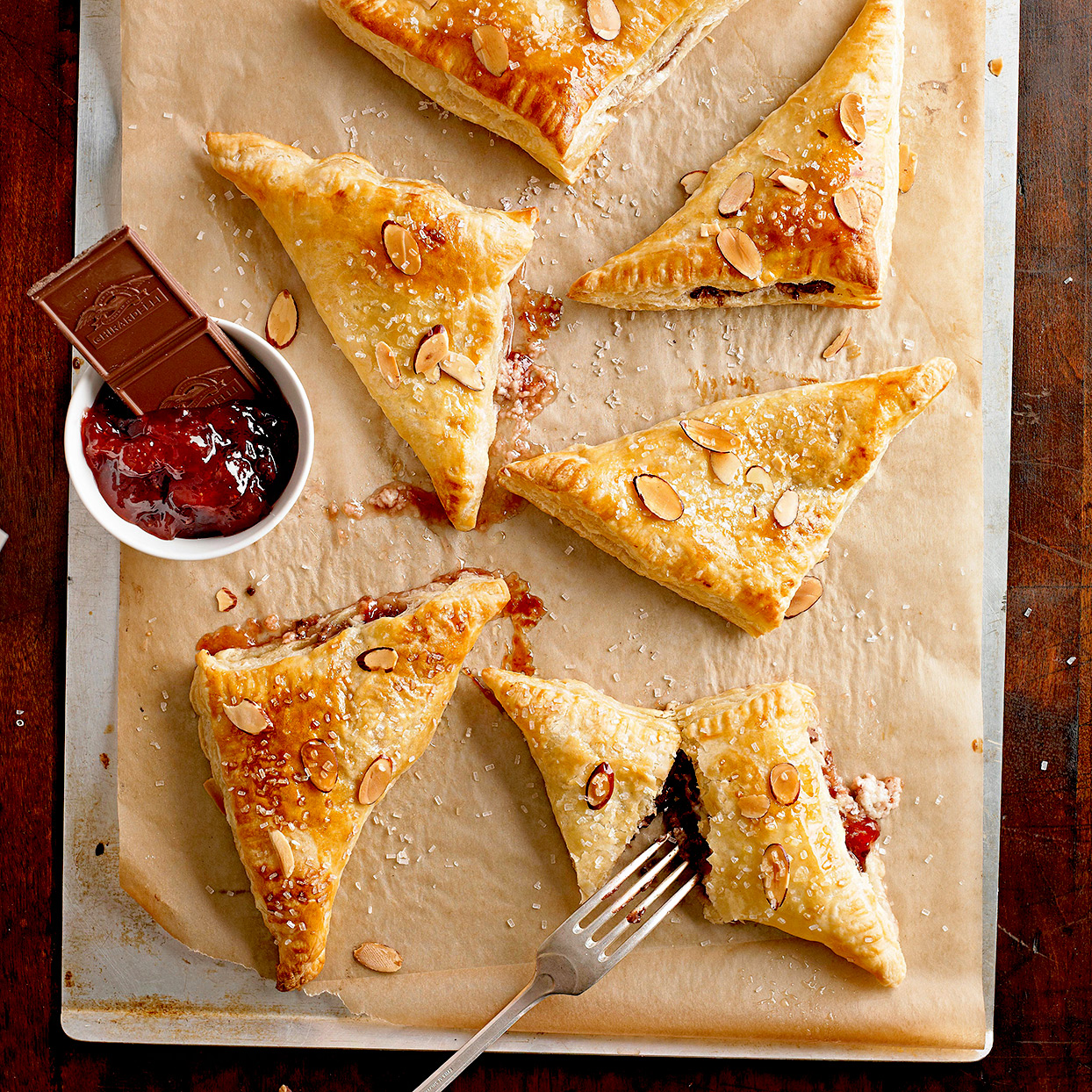 Strawberry-Chocolate Turnovers