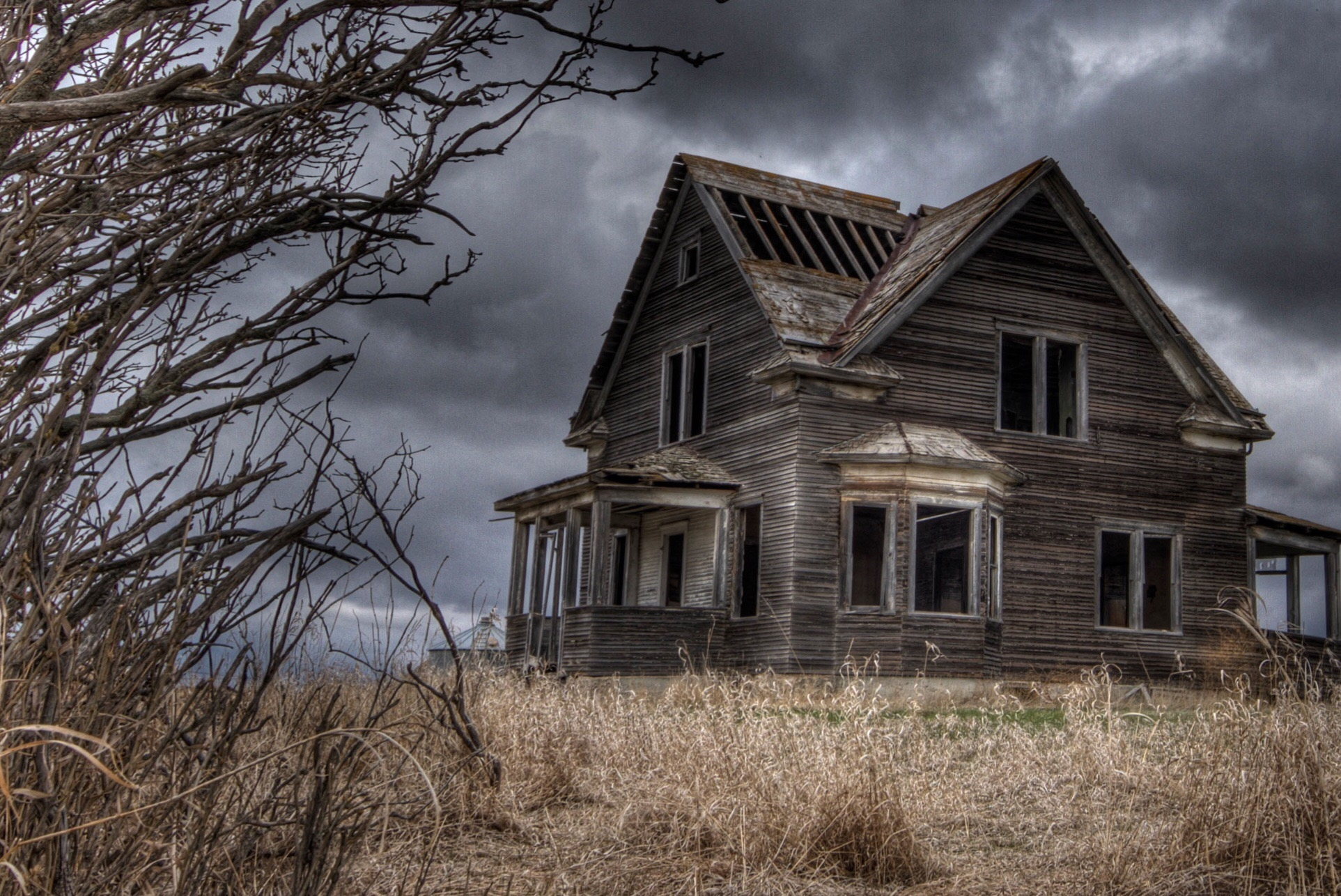 scary looking house