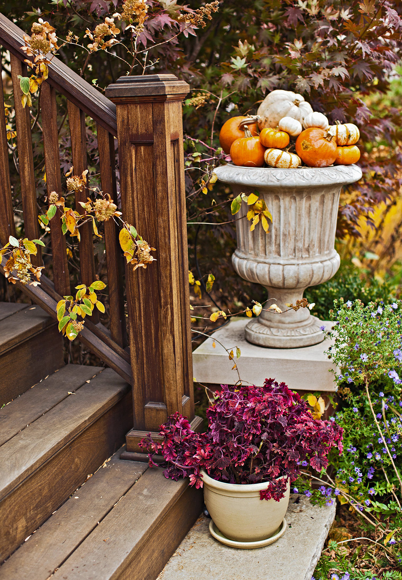 pumpkin planter porch decor