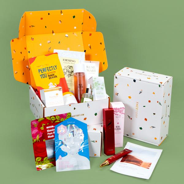 assorted face masks in box