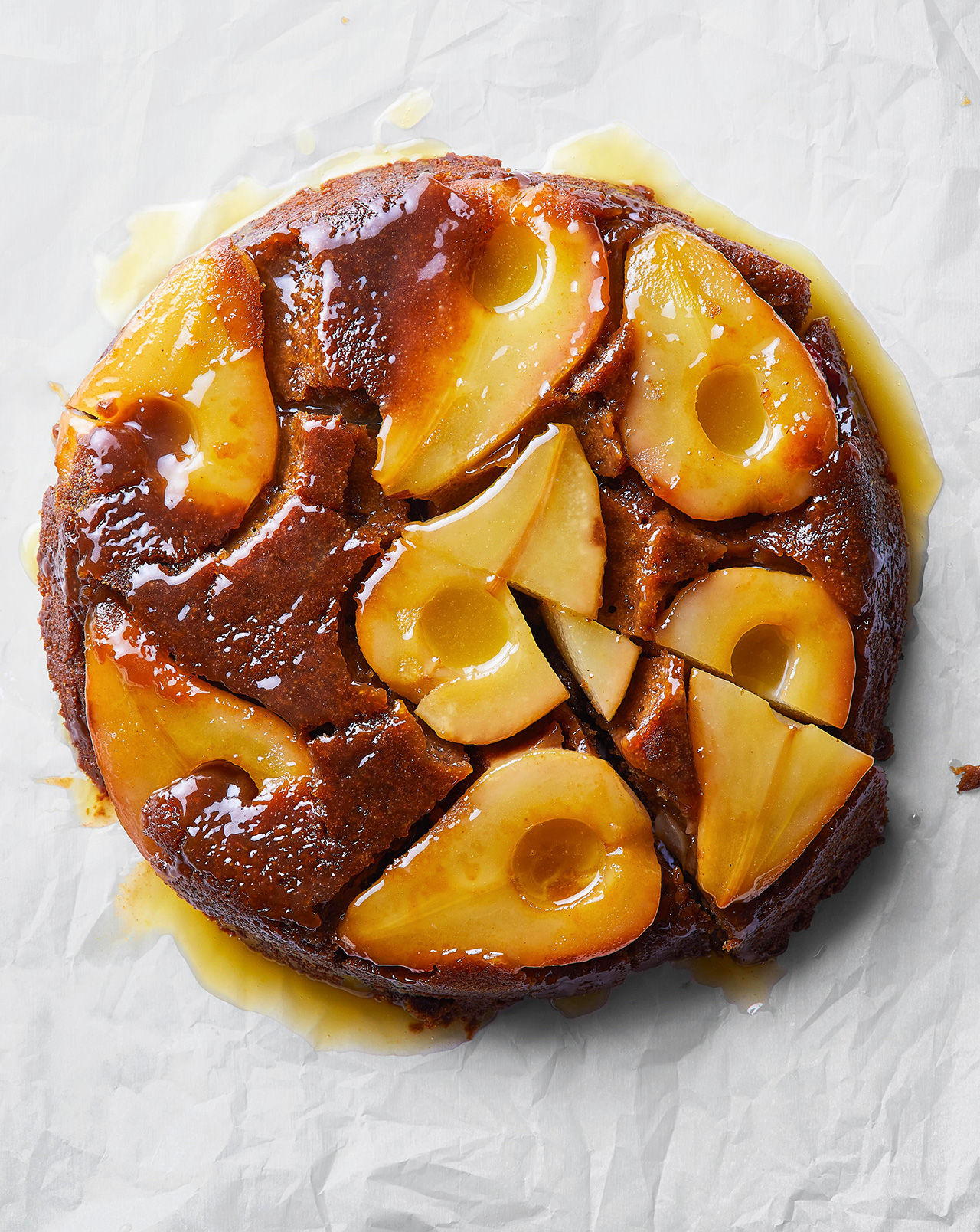 Caramelized Pear Skillet Cake