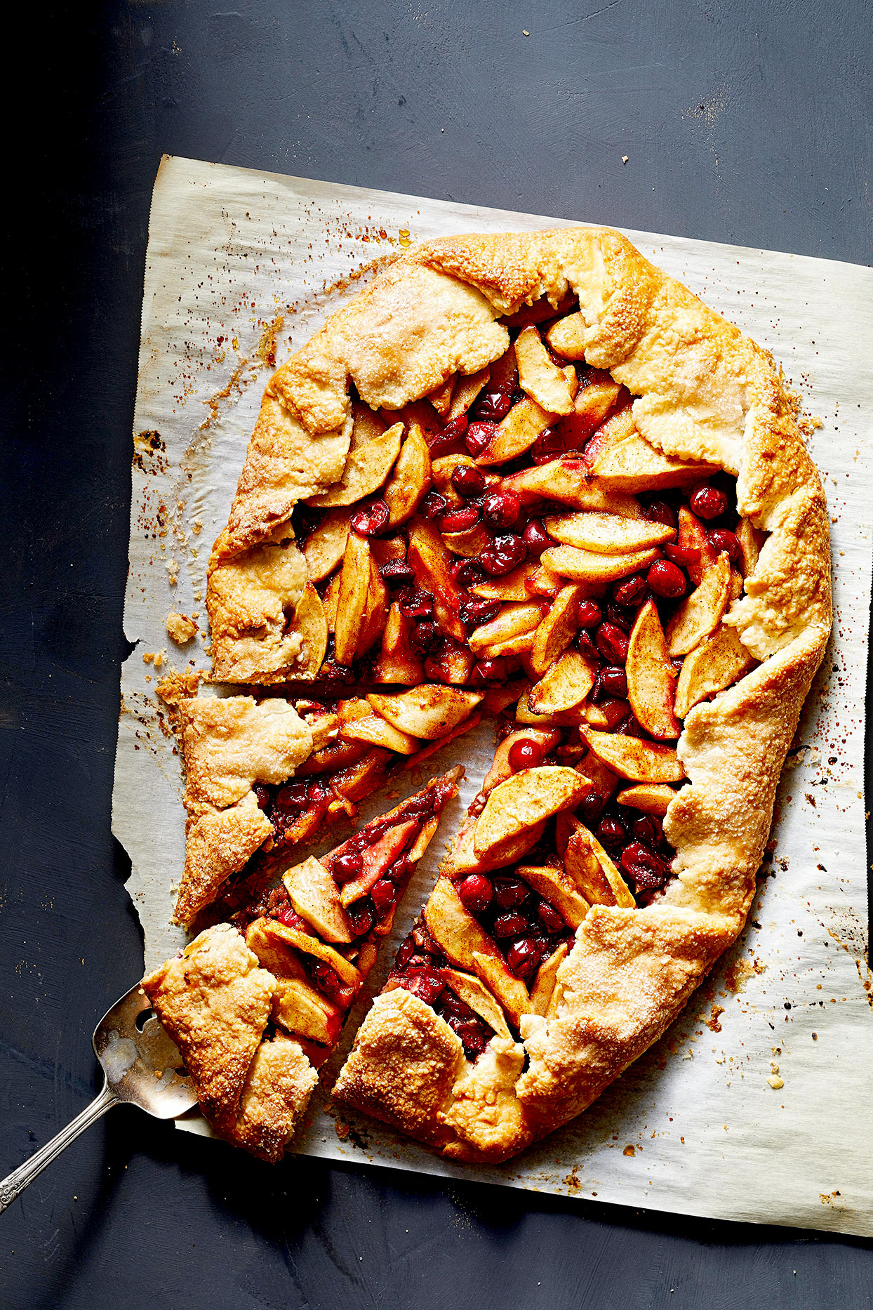 Apple, Cranberry, and Pecan Galette