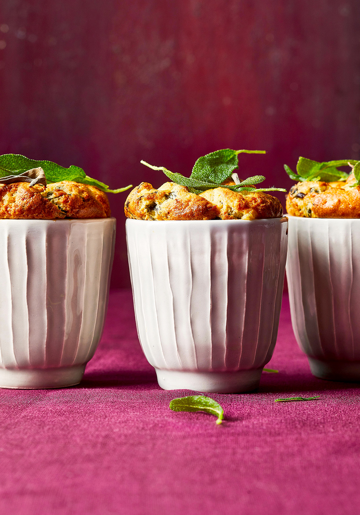 Mini Greens-and-Cheese Souffles