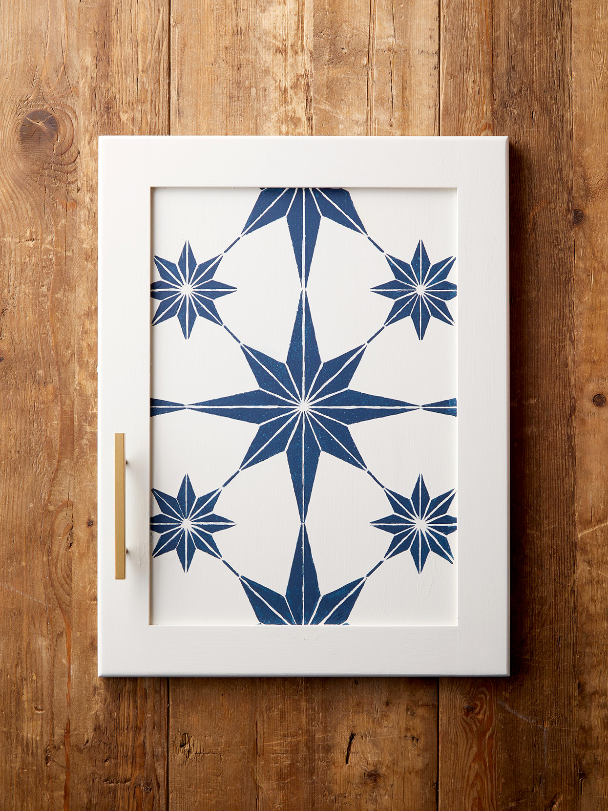 Star Stenciled Door