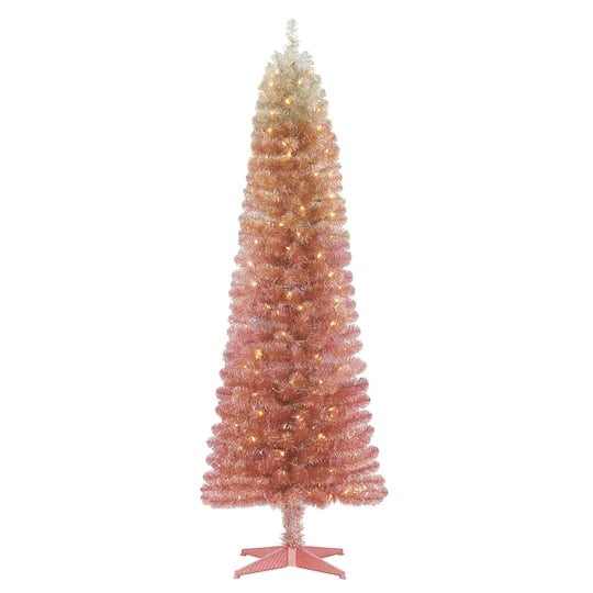 ombre pink christmas tree