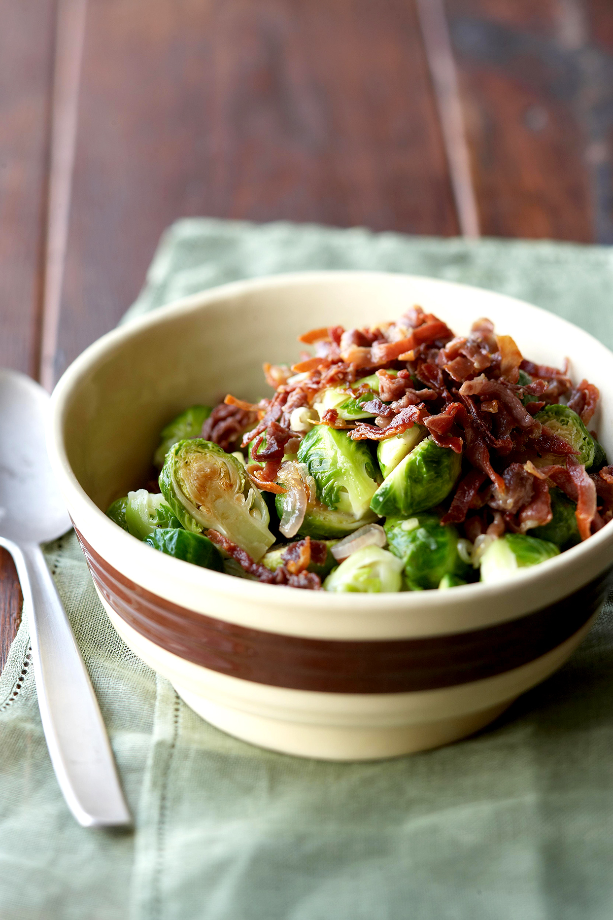 Brussels Sprouts with Frizzled Prosciutto
