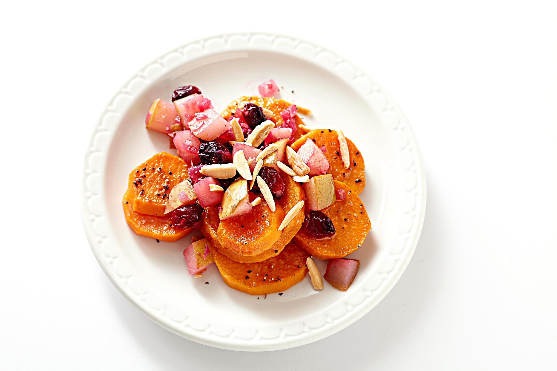 Cranberry-Pear Chutney-Topped Sweet Potatoes
