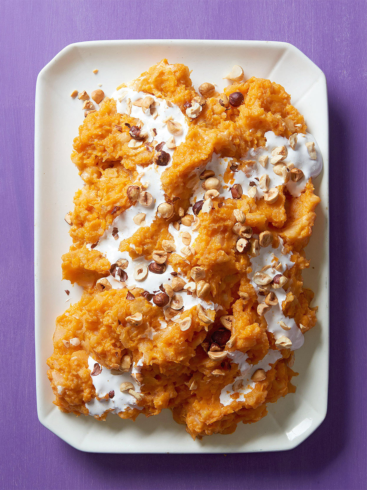 Apple-Infused Mashed Sweet Potatoes with Marshmallow