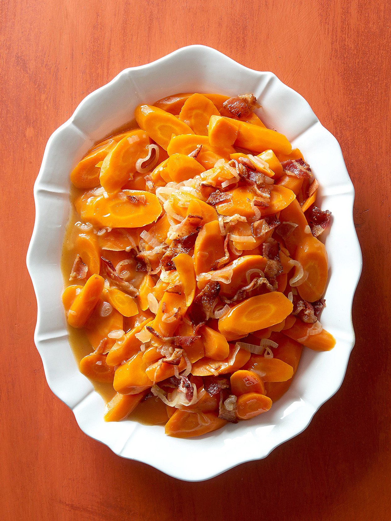 Apple-Infused Carrots with Bacon