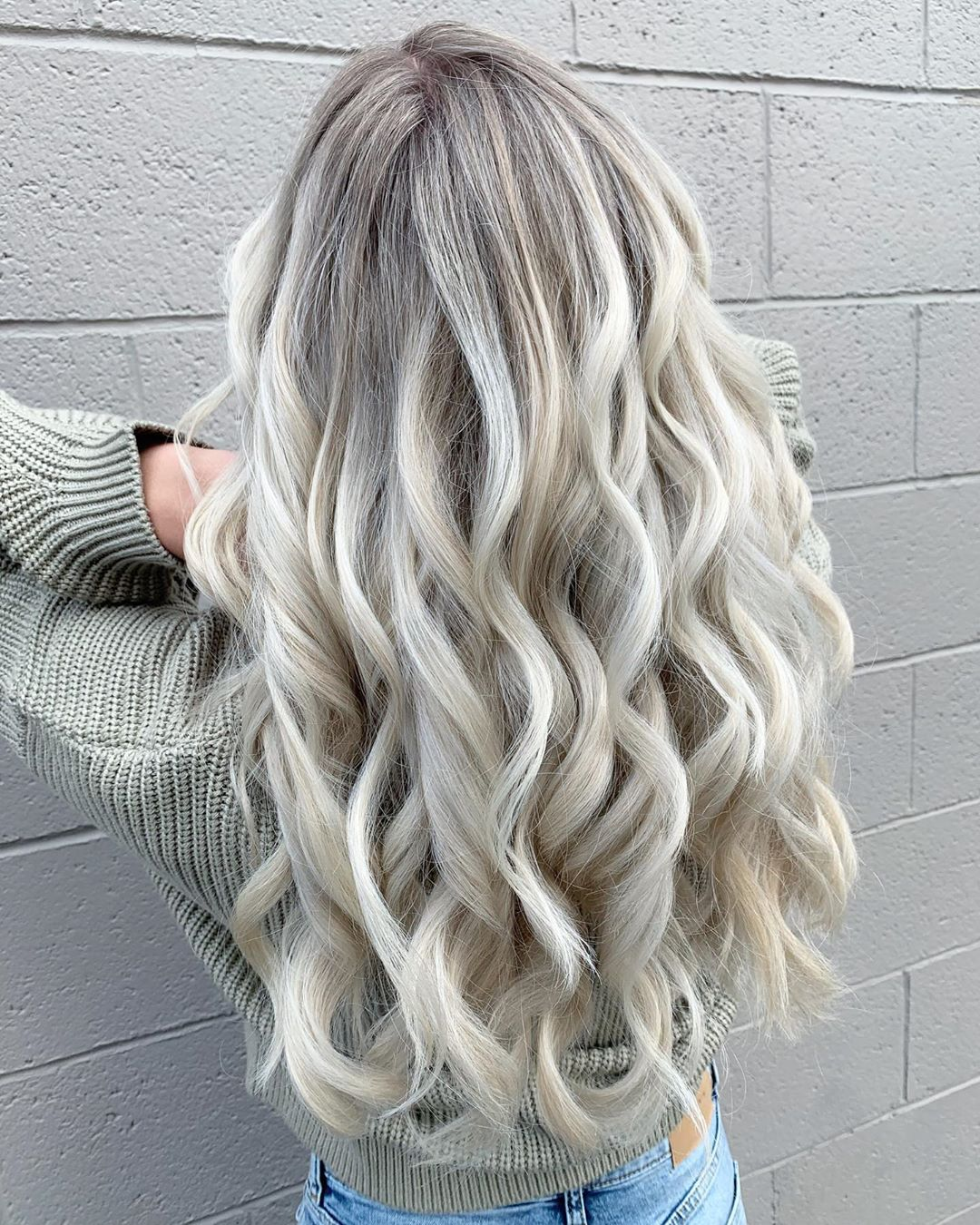 long icy blonde hair