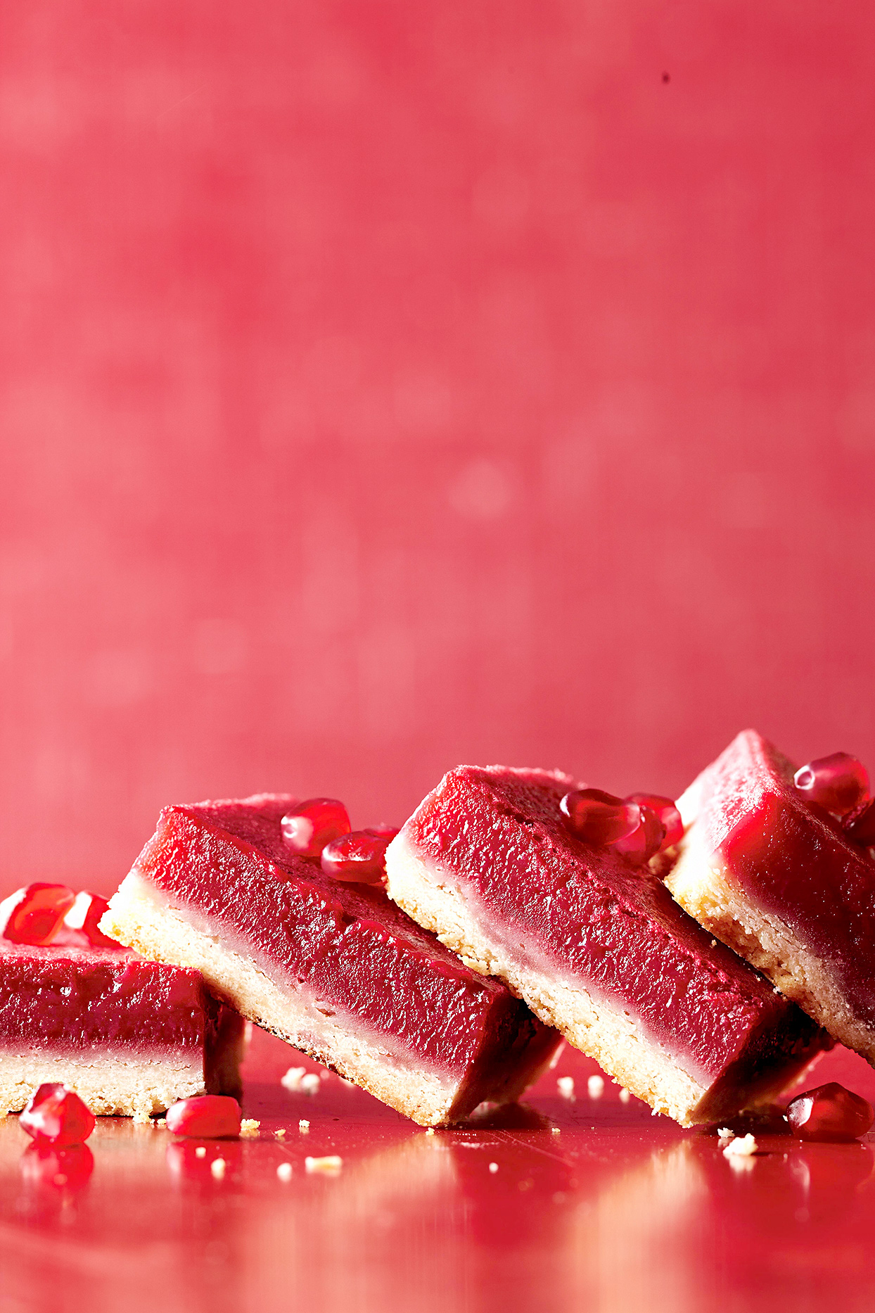 Pomegranate-Raspberry Bars