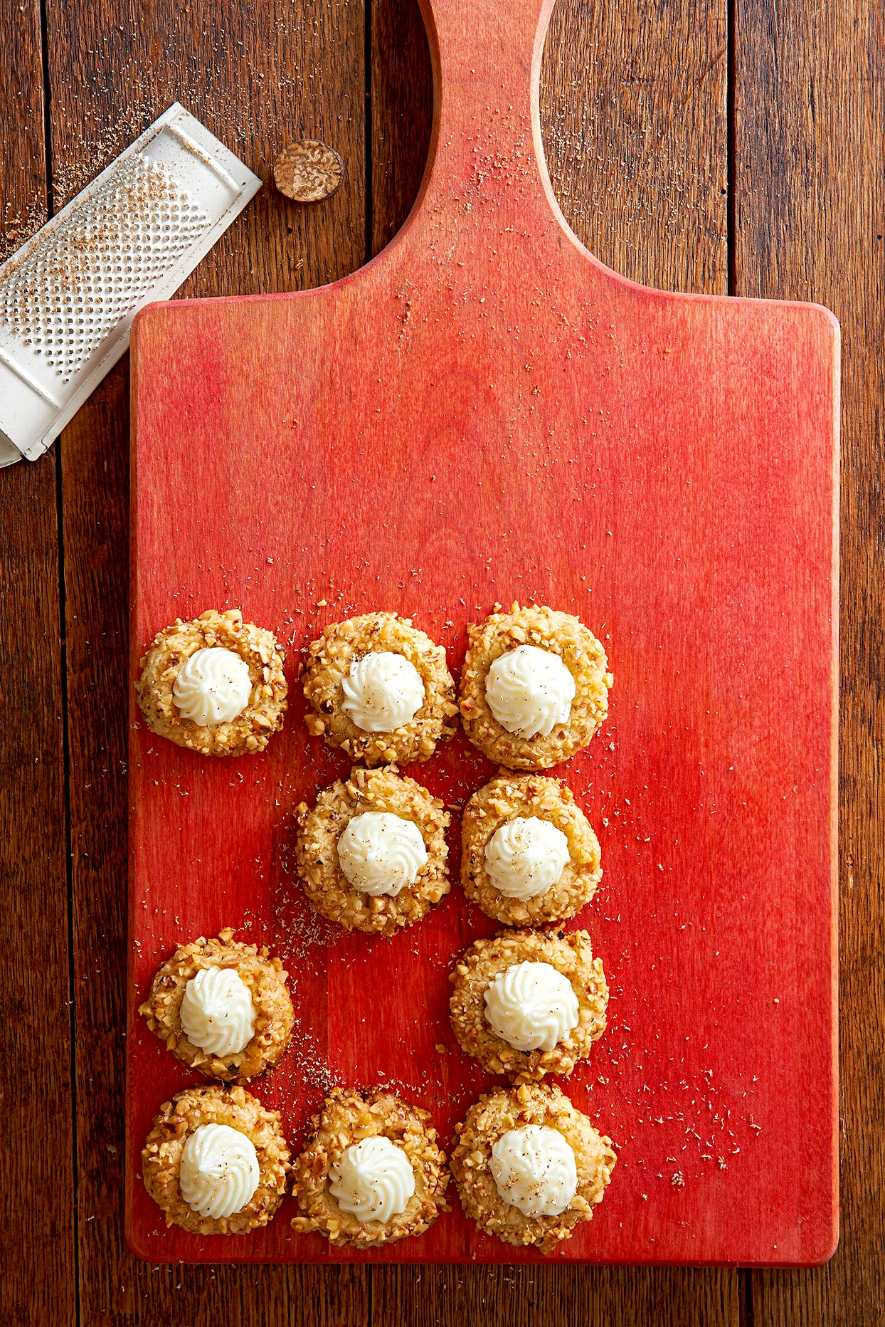 Eggnog-Nut Thumbprints
