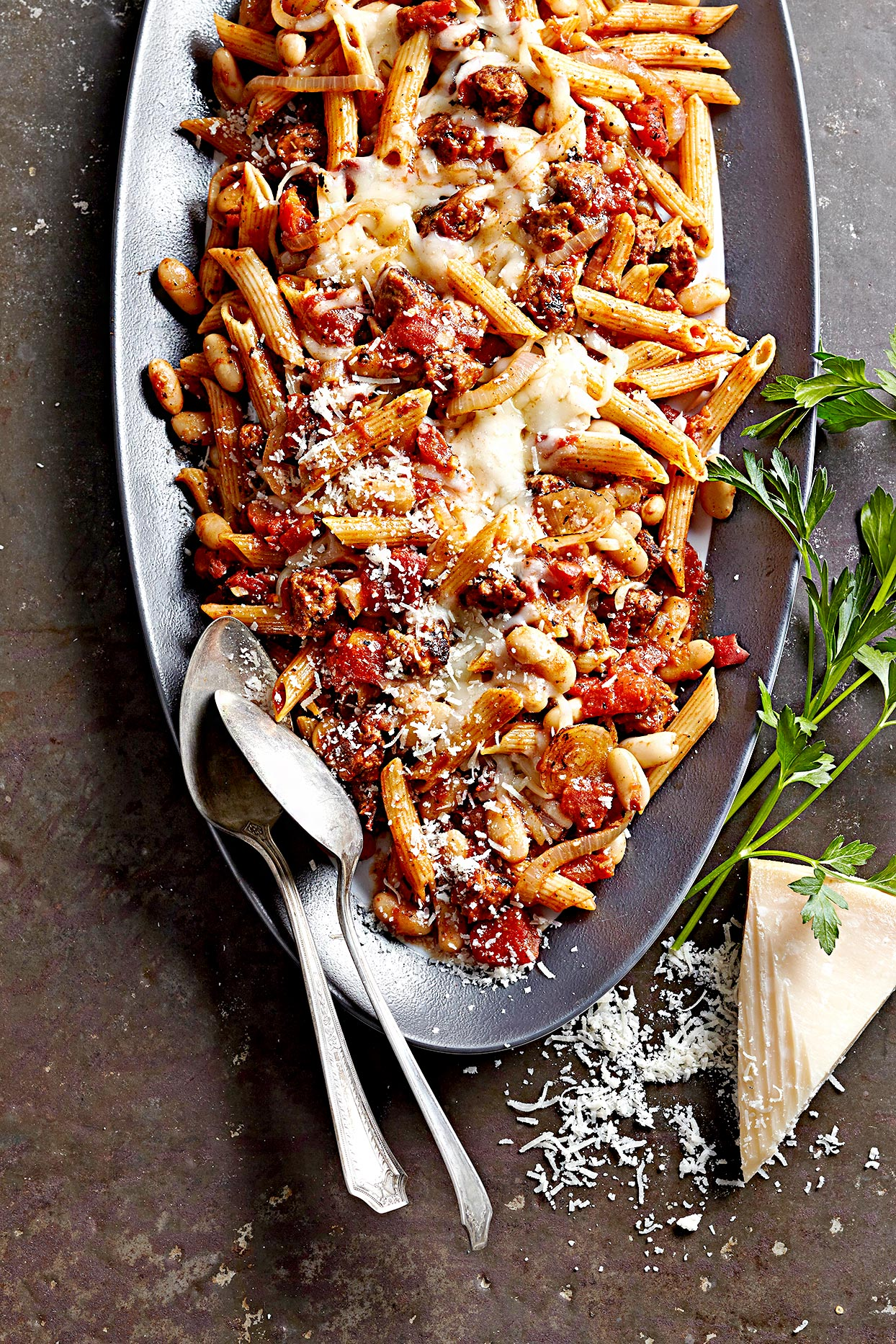 Sausage and Cannellini Bean Penne
