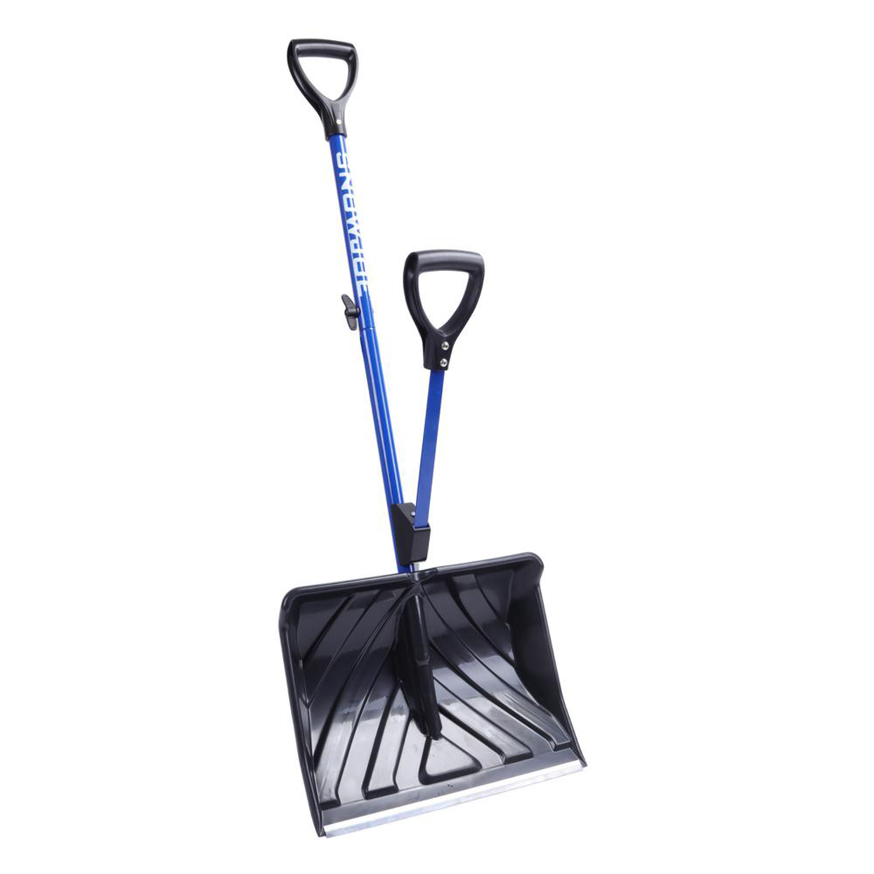 Snow Joe snow shovel with two handles on white background