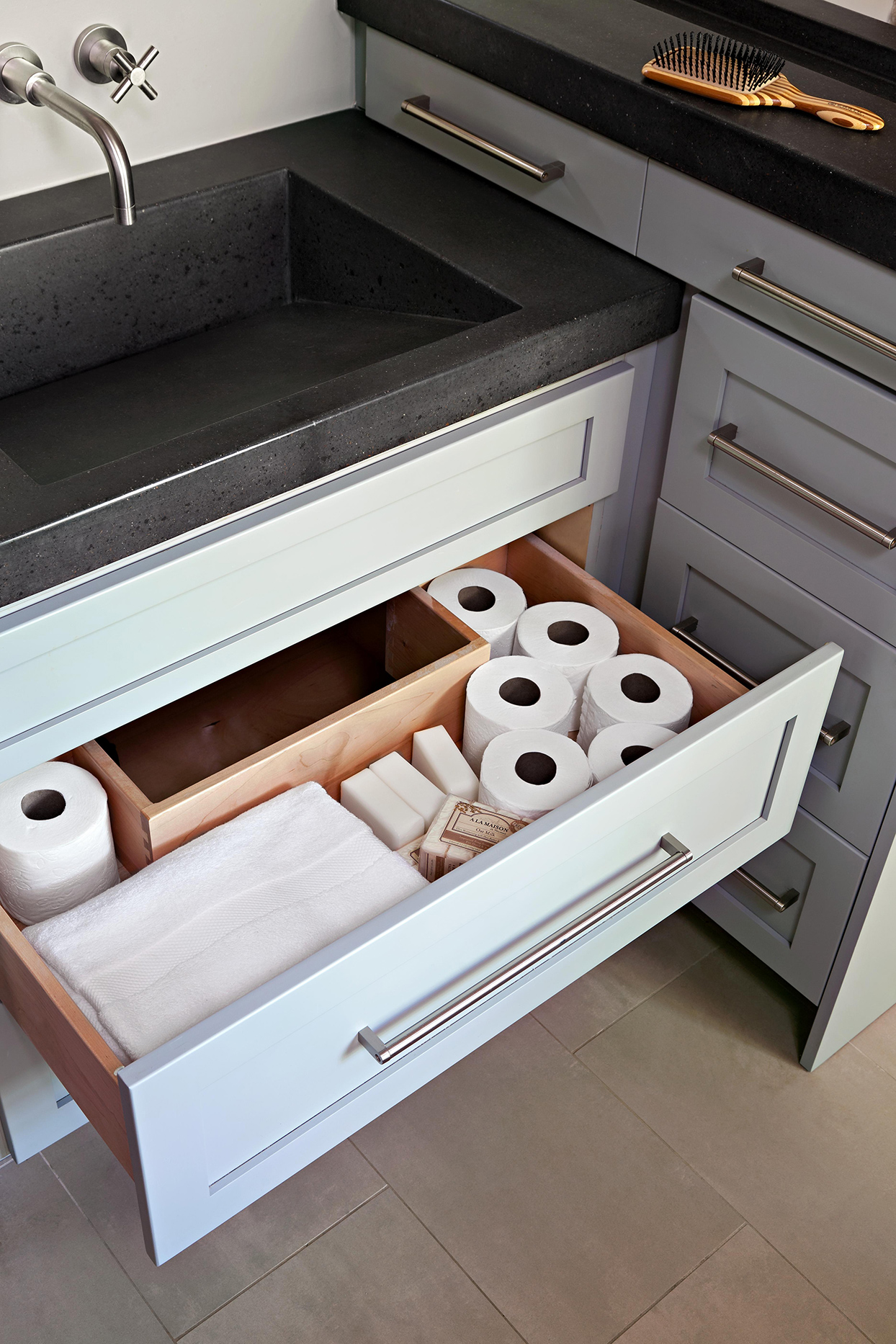 bathroom storage under sink