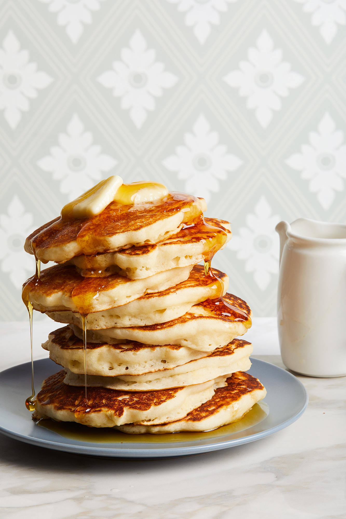 buttermilk pancakes with syrup