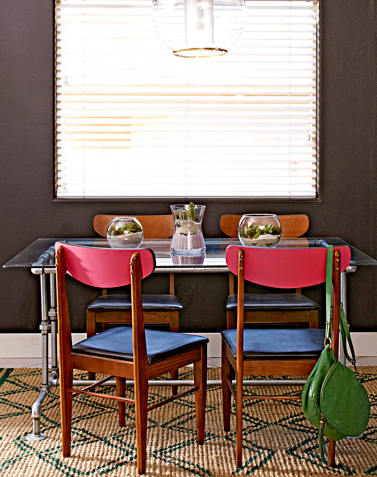 Dining area in front of window