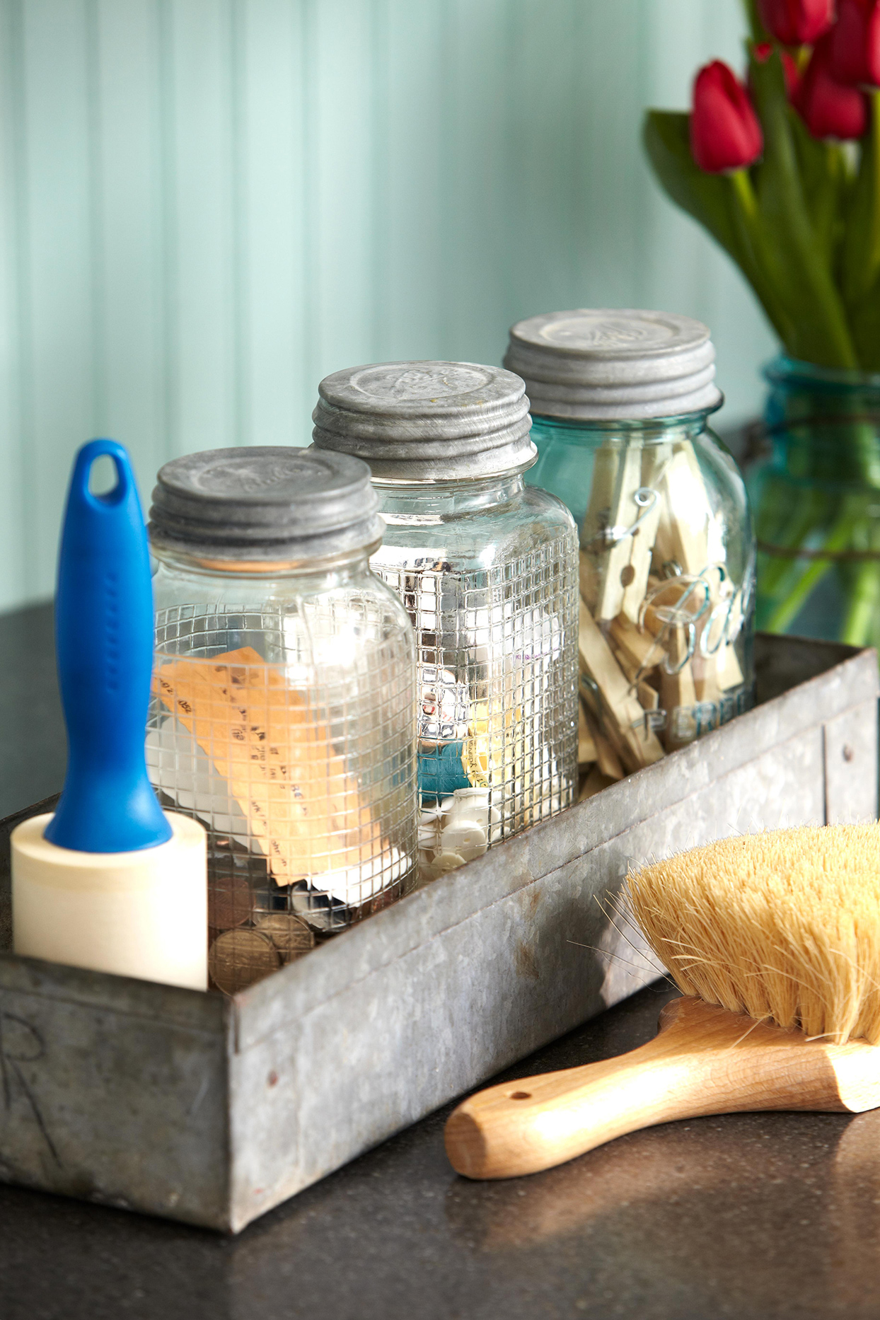 10 Genius Mason Jar Storage Ideas That Go Beyond The Pantry Better Homes Gardens